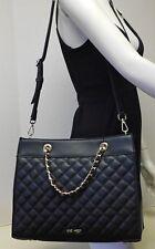Nine West Black Quilted Shoulder Bag Satchel Handbag Purse