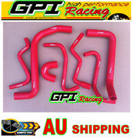 HOLDEN VY/VT/VX/VU/WH Commodore V6 3.8L Silicone Radiator Hose RED