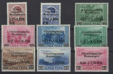 ITALIAN OCCUPATION, MONTENEGRO, STAMPS, 1944,  SASSONE 15- 20+ A6- A8 **.