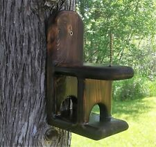 Cute decorative Corn Cob Squirrel feeder, cedar wood, TBNUP #1B