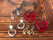 Lot Heart Earrings Lotto Orecchini Cuore