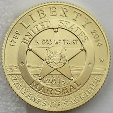 2015-W $5 U.S. Marshals Service 225th Anniversary Gold Specimen, Mint Box & COA