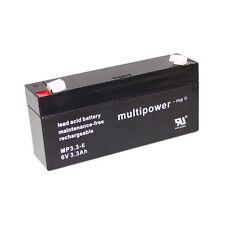 6V 3,3Ah Blei Gel Akku Peg Perego ROCKY Schaukelpferd Batterie Accu Multipower