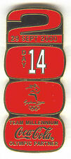 2000 SYDNEY OLYMPIC COCA COLA PIN OF THE DAY GOLD PIN SET DAY 14