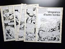 5 planches de montage originales Spectral N°12 1976  Artima Aredit