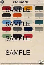 1966 CHEVROLET TRUCK VAN PICKUP DIAMOND T TRUCKS 66 PAINT CHIPS 66 ACME 5