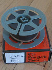 The New York Times on Microfilm, Choose a date between  1900 - 1930