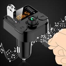 Vivavoce Bluetooth Senza Fili 2 USB Trasmettitore FM Auto Caricatore Lettore MP3