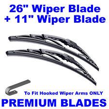 "Premium 26"" Inch & 11"" Inch Pair Front Windscreen Wiper Blades"