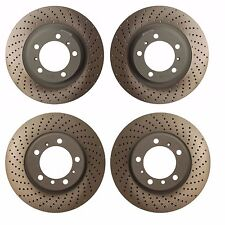 Porsche 911 2012-2015 Complete Front and Rear CrossDrilled Disc Brake Rotor KIT