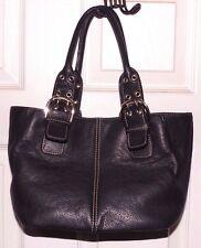 EUC Tignanello Perfect 10 French Tote Black Leather Handbag Bag Purse