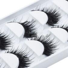 5 Pairs Handmade Natural Long Thick Makeup False Eyelashes Eye Lashes Extension