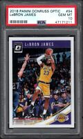 2018 Panini Donruss Optic #94 LeBRON JAMES Los Angeles Lakers PSA 10 GEM MINT
