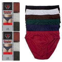 6 Pack Knocker Mens Bikinis Briefs Underwear 100% Cotton Solid Size Large 36-38