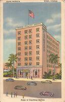 Miami, FLORIDA - Hotel Patricia -  ARCHITECTURE - 1951 - old cars