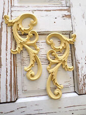 ARCHITECTURAL ANTIQUE SCROLLS FURNITURE APPLIQUE WOOD RESIN VINTAGE LOOK  *NEW*