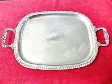 LARGE VINTAGE  RANLEIGH  SILVER  PLATE  SERVING  TRAY    59cm. X  35cm.