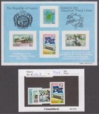 Nauru - 1974 U.P.U. Set & Souvenir Sheet. Sc. #114-7a, SG #122-6. Mint NH