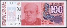 1985-90 Argentina 100 Australes Billete * 14.076.044 D * UNC * P-327 *