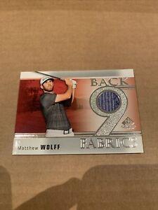 2021 Upper Deck SP Game Used Golf Matthew Wolff + Bonus Card /49