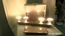 668M Vtg Harwood Chicago Stage/Photo Folding Bar Lights in Metal Carry Case EXC!