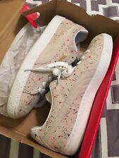 Puma Men's Classic Paint-Splatter Suede Low-Top Sneaker