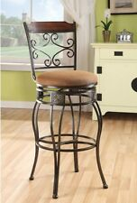 Bar Stools Set High Back Swivel Counter Height Chairs Breakfast Bar Stools NEW