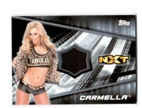 WWE Carmella 2016 Topps Divas Revolution Event Used Mat Relic Card SN 148 of 199