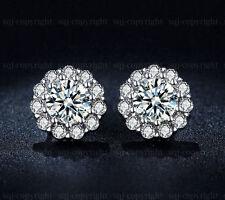Excellent Cut White Gold VVS1 Fine Diamond Earrings