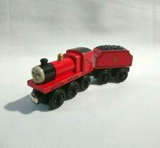 Thomas & Friends Wooden Railway Train - James & Tender - Learning Curve Brio #2