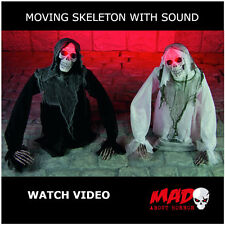 Interruptor de tierra Zombie animada Prop movimiento de Decoración de Halloween Esqueleto Aterrador