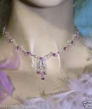 Wholesale Jewerly Lot Pink Rhinestone Necklace Earring 18 Sets Prom Bridal