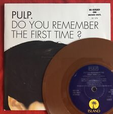 """PULP -Do You Remember The First Time- Rare UK Brown Vinyl 7"""" +Picture Sleeve"""