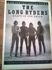 The LONG RYDERS Union 1985 UK Poster size Press ADVERT 16x12 inches