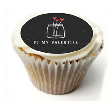 Cupcake Topper valentines day  personalised Rice, Icing sheet 943