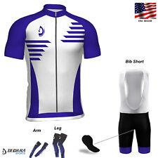 Mens Cycling Bib Short Team Racing Summer Jersey Half Sleeves Bicycle Kit