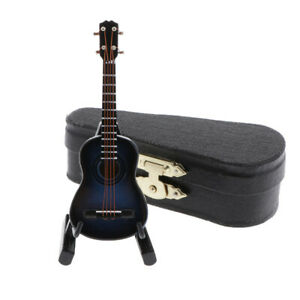 1:12 Scale Mini Wooden Electric Guitar Model Doll House Accessories Ornament #4