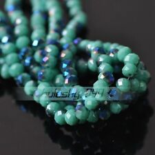 Wholesale 3/4/6/8mm Half Color Rondelle Faceted Czech Glass Loose Spacer Beads