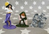 Vintage Hunchback of Notre Dame playset figures Disney Nestle