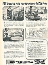 1947 New York Central System  Vintage Advertisement Print Ad J517