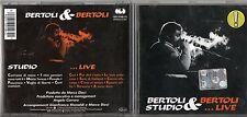 PIERANGELO BERTOLI CD STUDIO & LIVE Bertoli & Bertoli  1985 fuori catalogo