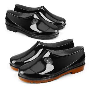 Women Men Rain Boots Waterproof PVC Rubber Antiskid Work Ankle Gardening Boots