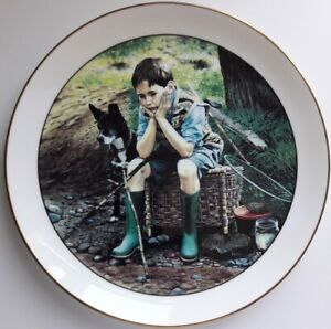 Wedgwood 'FISHING' PLATE, Retro, vintage, shabby chic
