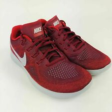 8a43e8b6030c Mens Nike Free RN 2017 880839-606 Team Red Wolf Grey NEW Size-