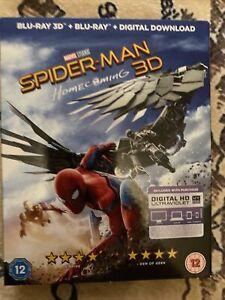 SPIDERMAN HOMECOMING 3D (2017) Marvel Universe. uk region B BLU RAY slip cover