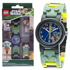 LEGO Kids' STAR WARS With YODA Mini-Figure Link Bracelet Kids Watch 8020295 NEW