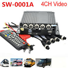 4CH Car Vehicle Bus School Bus  Camera High D CCTV kit Recorder SD Card Remote