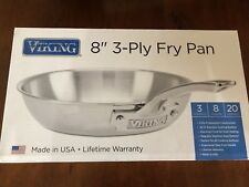 "Viking 8"" 3 Ply Fry Pan, NIB, Pro Construction"