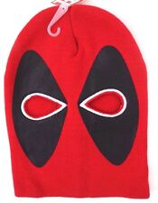 Marvel Deadpool Adult Stylish Halloween Costume Face Mask 2 Hole Winter Hat NWT