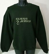 9732e3a298ec GUESS Jeans USA Sweatshirt Vintage 90s Embroidered Spellout Size L/Large